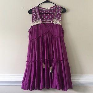 Entry purple bohemian sleeveless dress